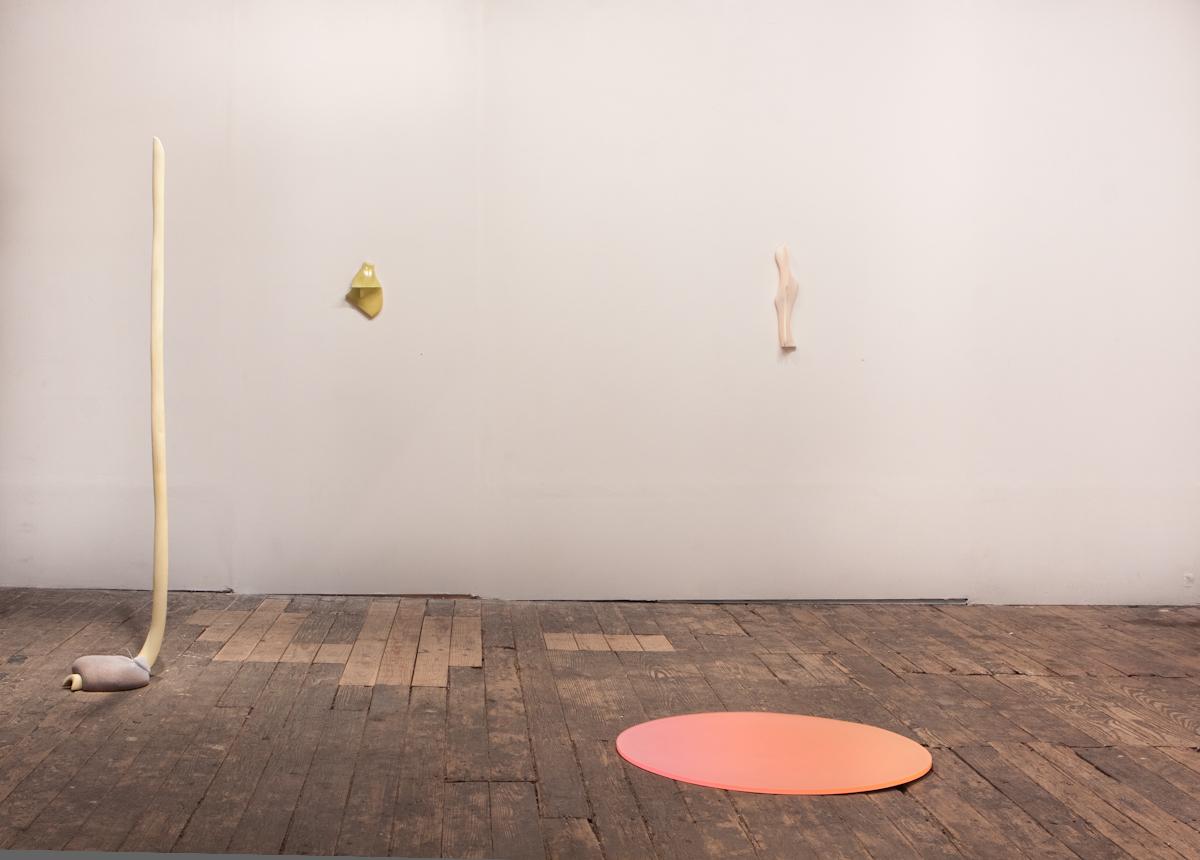 r to l: Rachel Starbuck, Zach Meisner (wall), Devra Freelander