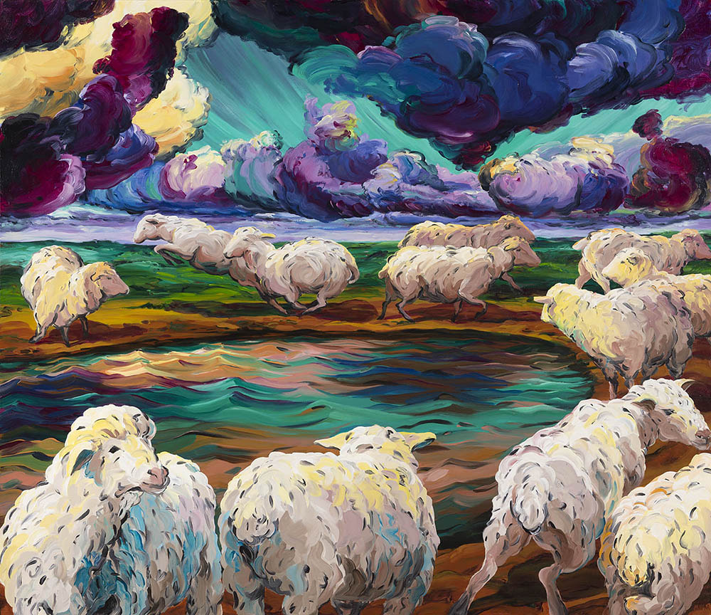 Melissa Miller, Tempesta, 1981, oil on canvas