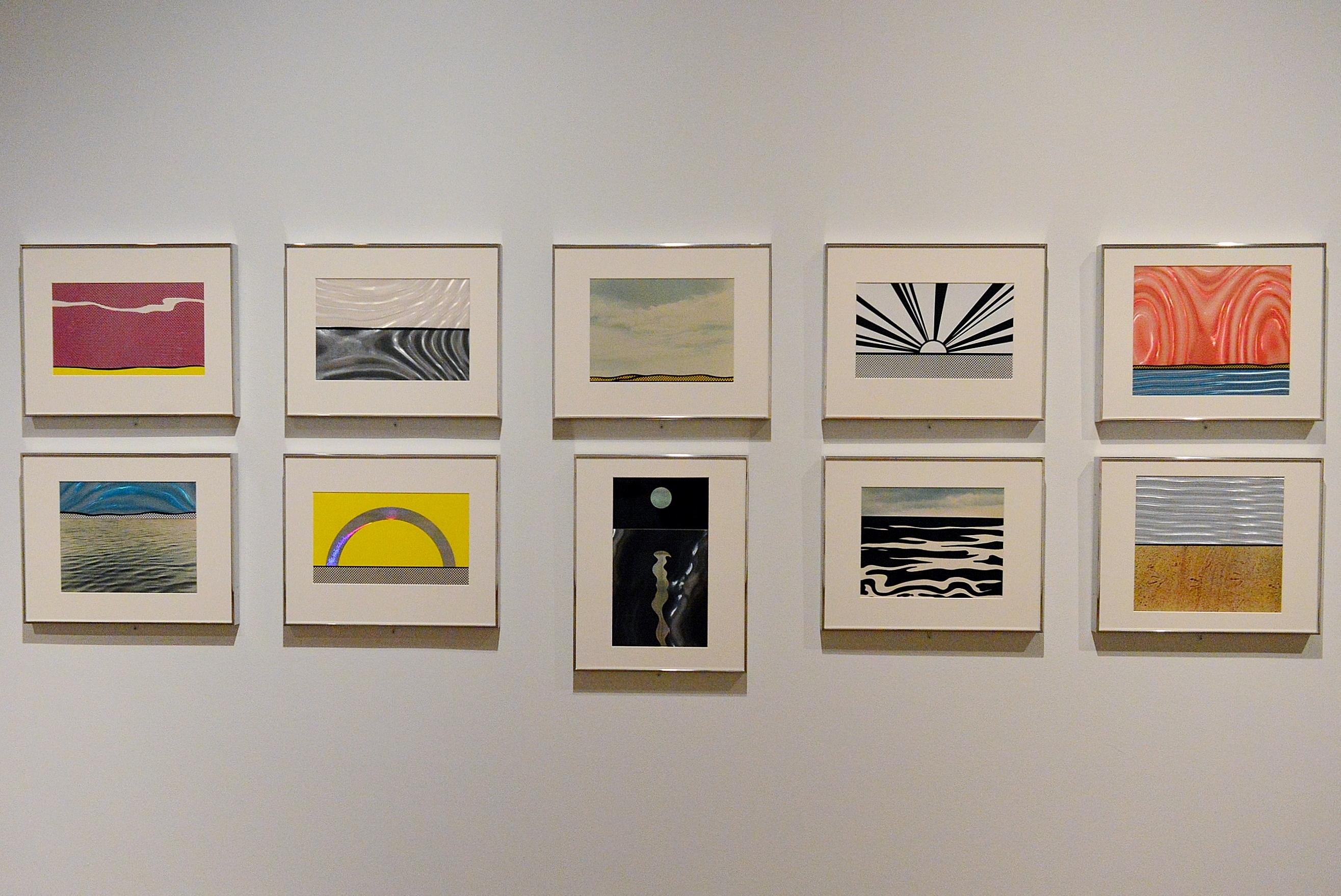 Rarely seen screenprints from Roy Lichtenstein's portfolio Ten Landscapes.
