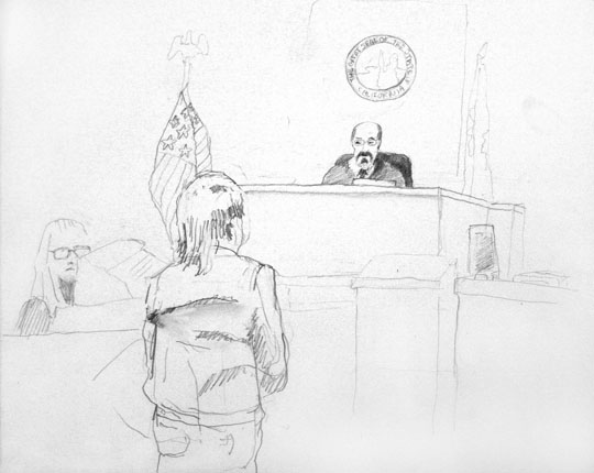 Courtroom drawing from Refresh
