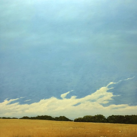 Scott Lennox, Crow Fields, oil on canvas.