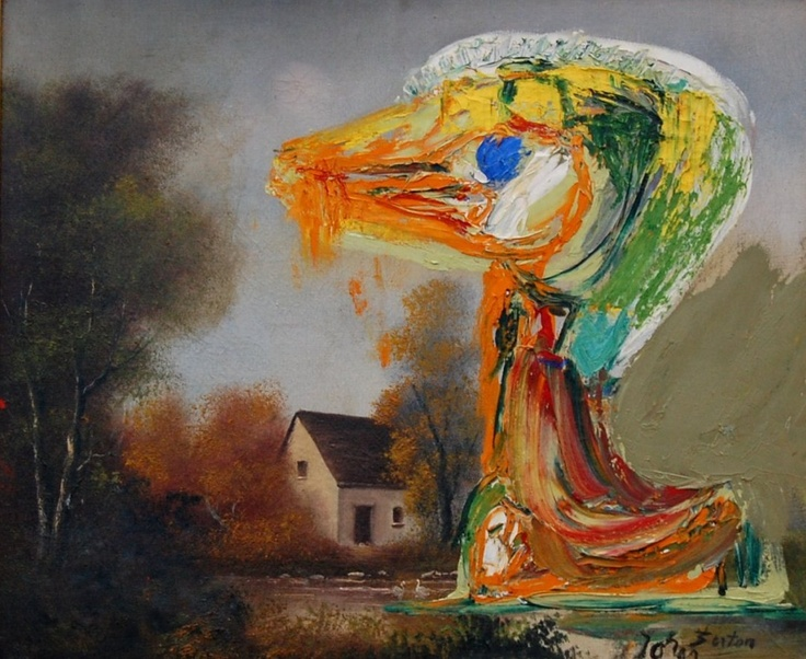 Asger Jorn, The Disquieting Duckling (Le canard inquiétant) (1959)
