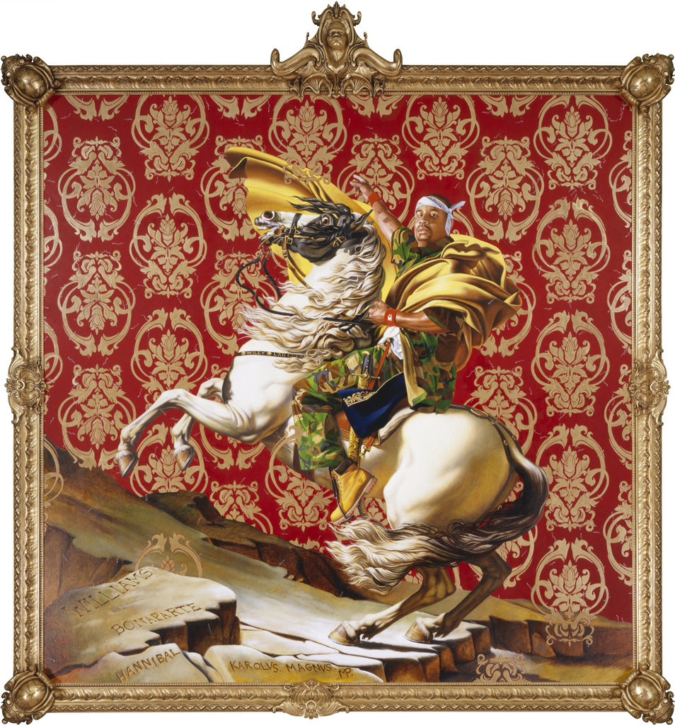 Kehinde Wiley, Napoleon Crossing the Alps, 2005