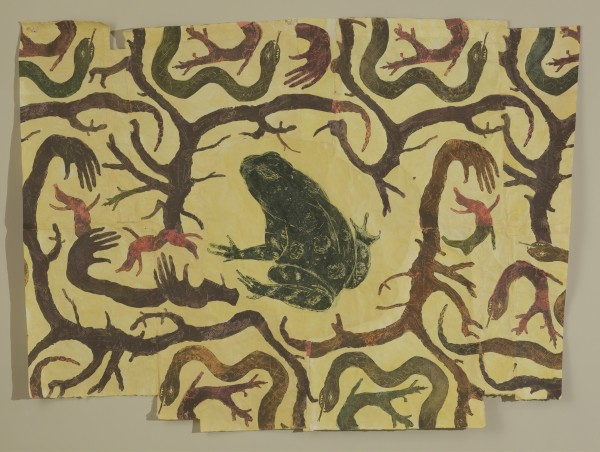 Mersky.Frog in Hand Branches