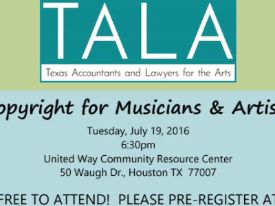 Copyright For Musicians & Artists-Houston image