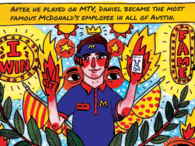 Happy holidays austin you have a totally new daniel for Daniel johnston austin mural