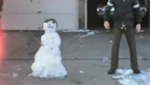 Snowman in Houston