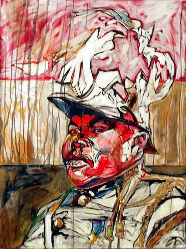 Garvey's Ghost, 2005, acrylic on canvas, 60 x 48 in.
