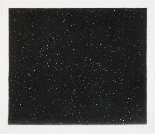 Vija Celmins, Night Sky #18, 1998