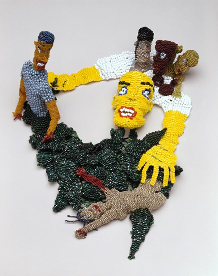 Joyce J. Scott, The Sneak, 1989, beads and thread.