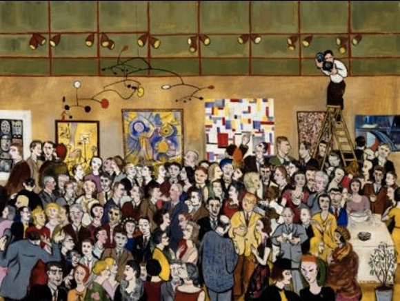 Frank Freed, Opening Night – Contemporary Arts Museum, 1953, Oil on canvas, Collection of The Museum of Fine Arts, Houston. Gift of the Eleanor and Frank Freed Foundation.