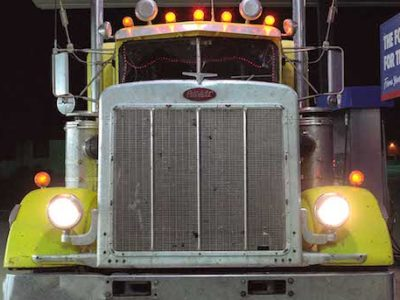 Peterbilt in Post, Texas, 2016 Digital photograph 40 x 40 in.