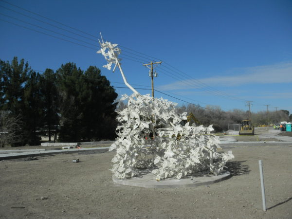 Uplift, 2013, on Country Club Road in El Paso at 60% of installation