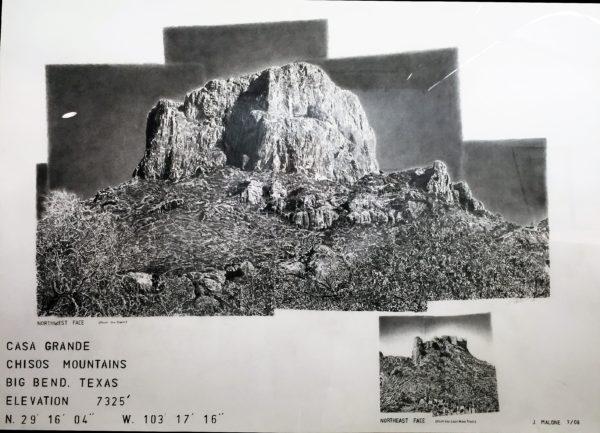 """Casa Grande, Jim Malone, 44 x 60"""", pencil on paper"""