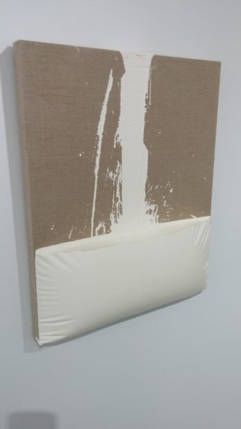 Decant (White), encaustic paint on canvas, 2011