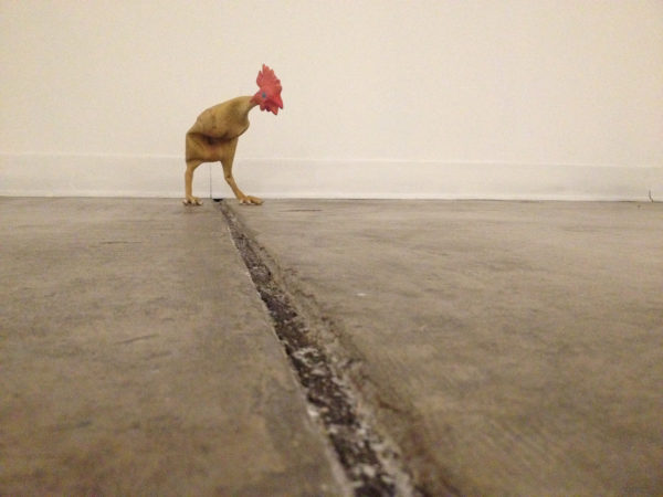 Chichen 2015, rubber chicken, steel wire & thread