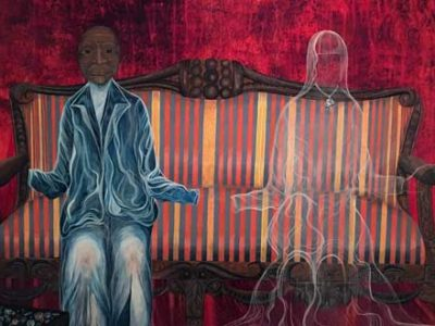 Ghost of Material Wealth, 1977, acrylic on canvas