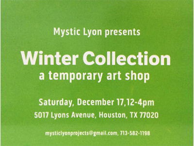 Winter Collection, a Temporary Art Shop at Mystic Lyon