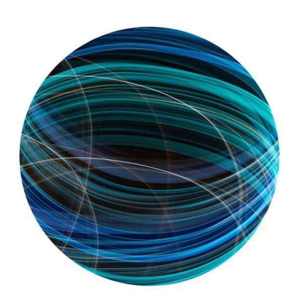 Marble, 2012, digital print on metal, 30 in. diameter