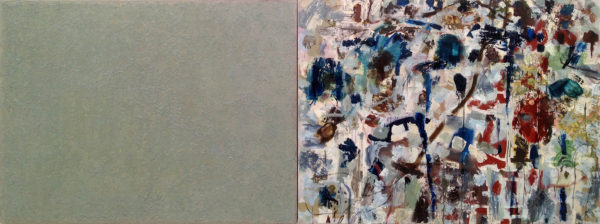 """Stephen Battle, As Stone and Water Drink, 2015, oil on canvas, 36""""x96"""""""