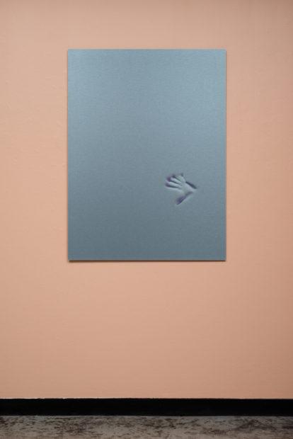 Liz Rodda, Print (Blue), aluminum print, 2017.