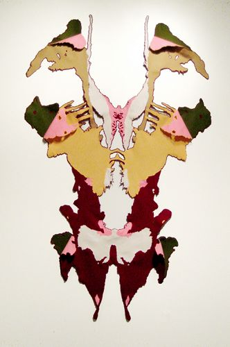 Softissue 2, 2008, hand-sewn wool felt, 95.5 x 62 x 6 in.
