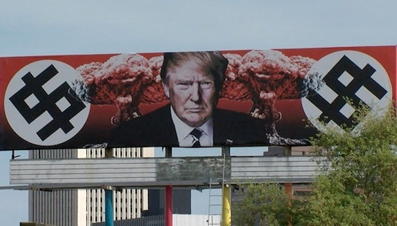 anti-Trump billboard