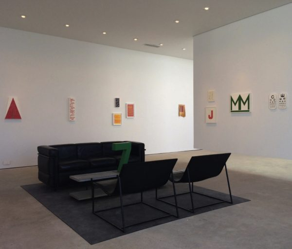 """Installation view of """"Glen Hanson and Matt Magee"""" at inde/jacobs, Marfa"""