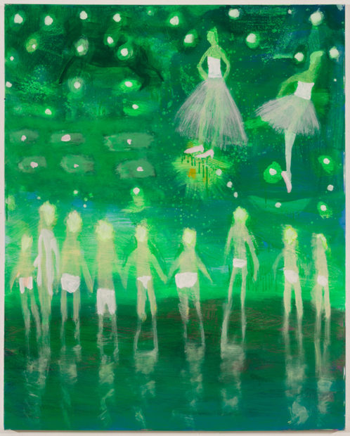 Katherine Bradford Prom Swim, Green, 2016 Acrylic on canvas 60 x 48 inches (152.40 x 121.92 cm) Courtesy the artist and CANADA