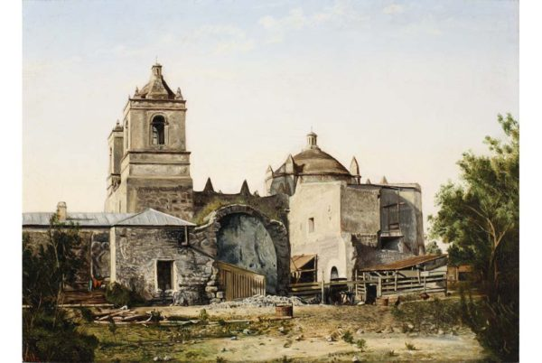 "View of Monclova, last quarter of 19th Century, oil on canvas, 12x9""."
