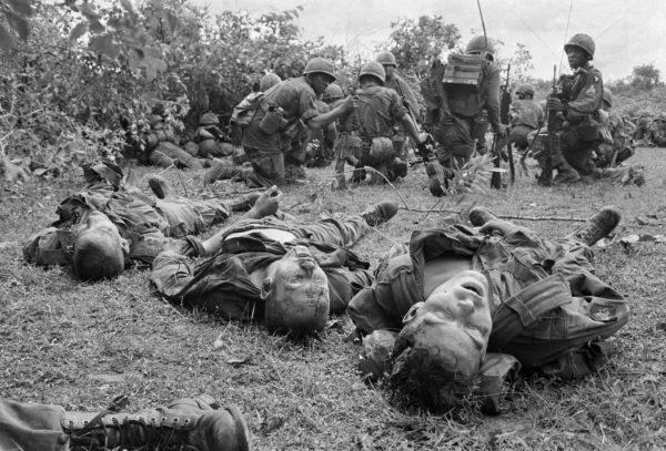 Henri Huet, bodies of US paratroopers during the battle of An Ninh, Sept. 1965