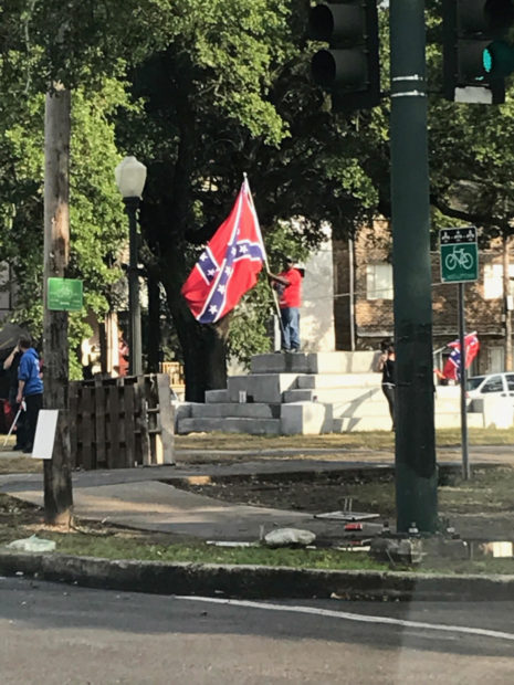 After the removal of the Jefferson Davis statue, New Orleans.