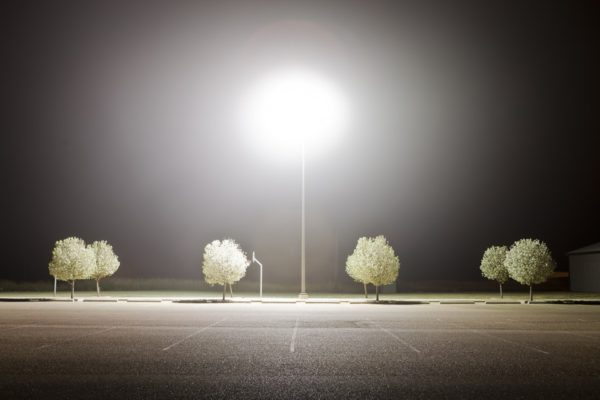 Plainview Parking Lot, Plainview, Texas, 2011, archival pigment print.