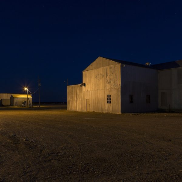 Ropesville Warehouse, Ropesville Texas, 2015, archival pigment print, collection of The Grace Museum.