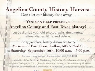 Angelina County History Harvest