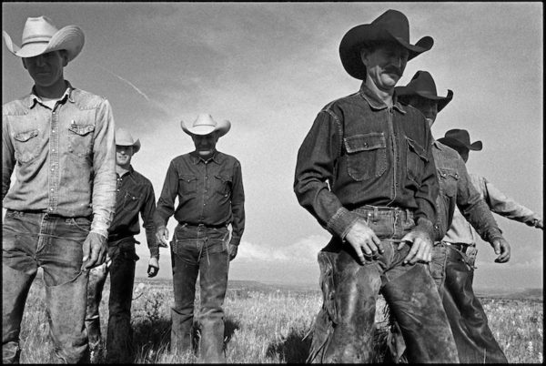 Cowboys Walking, J.R. Green Cattle Company, Shackelford County, Texas, May 13, 1997 Gelatin silver print