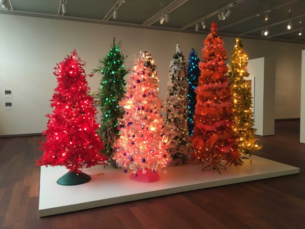 Chuck Ramirez's Christmas Trees on view in Chuck Ramirez: All This and Heaven Too at the McNay in San Antonio