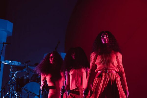 Solange performing at Day for Night (image via the festival's Facebook/Greg Noire)
