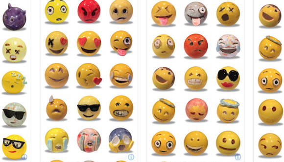 Emojis by Laura Owens