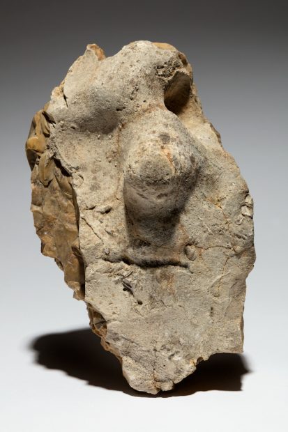 Neanderthal figure stone, Fontmaure, France ca. 150,000- 50,000 Flint 12 1/2 x 7 1/2 x 4 1/2 in. (31.7 x 19 x 11.4 cm) Tony Berlant Collection