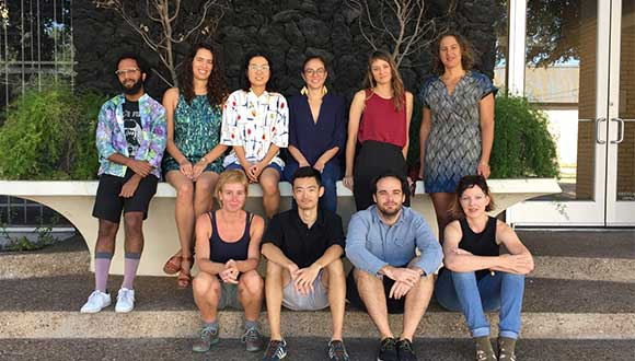 Core Program residents for the 2017–18 year, top left to bottom right: Devin Kenny, Elizabeth Webb, Yue Nakayama, Ruslana Lichtzier, Shana Hoehn, Kate Green, Maria Bang Espersen, Zuqiang Peng, Felipe Steinberg, Laura Wellen