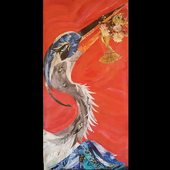 """Great Heron"" by Vivian Quevedo"