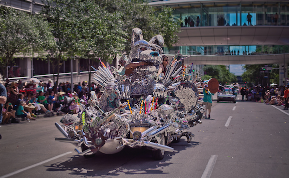 Image from the 2017 Art Car Parade. Photo by Morris Malakoff.