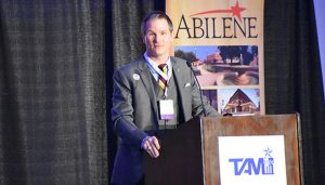 Texas Association of Museums president Mike Sproat at the 2017 TAM conference in Abilene