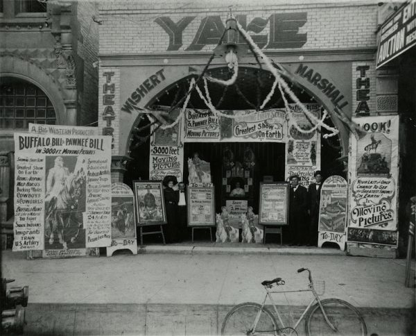 Unidentified photographer, [Yale Theatre in Austin, TX], ca. 1911. Gelatin silver print, 20.5 x 25.3 cm. Interstate Theater Collection, Harry Ransom Center.