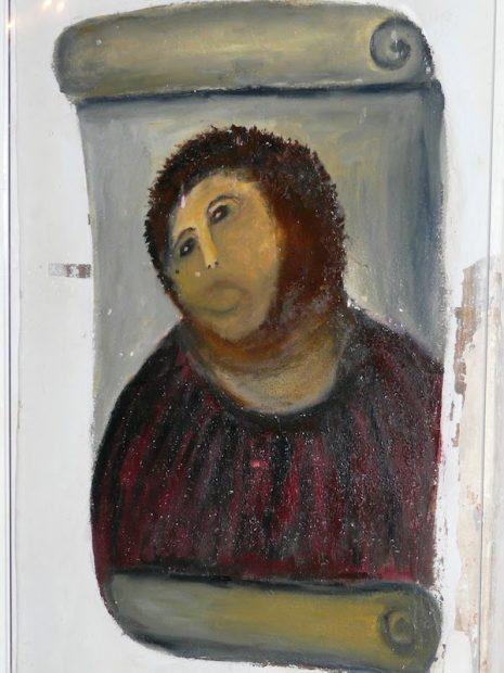 Cecilia Giménez's infamous 2012 restoration attempt of Elías García Martínez, Ecce Homo (1930).