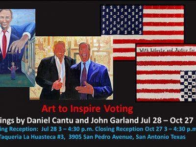 Daniel Santos Cantu & John Garland: Art to Inspire Voting