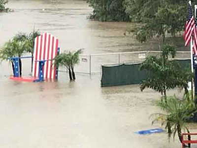 Independence Day Flood in Houston's Eleanor Tinsley Park