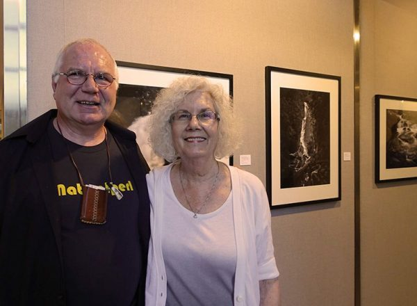 Sally Sprout with Laszlo Perlaky at Williams Tower Gallery
