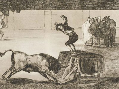 etching by Spanish printmaker Francisco Goya from his bullfighting series